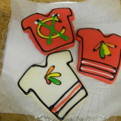Blackhawks Jersey Cookies #6