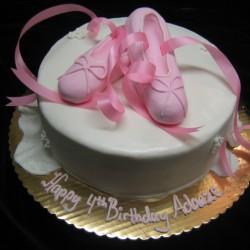 Ballet Slippers Cake #1