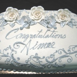 Congratulations Silver Cake #10