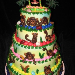 Curious George Tiered Cake #3