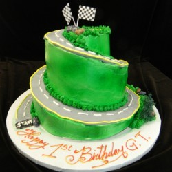 Downhill Race Track Cake #6