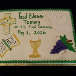 First Communion Sheet Cake #4