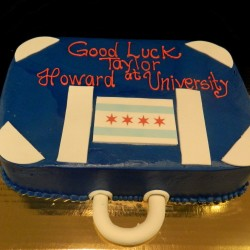 Off to College Suitcase Cake #1