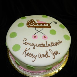 Polka Dotted Round Congratulations Cake #1