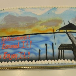 Retirement Sheet Cake #3