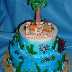 Retirement on the Beach Cake #2