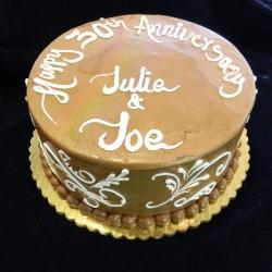 Round Anniversary Cake #4