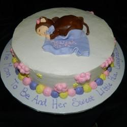 Round Sleeping Monkey  Cake #2