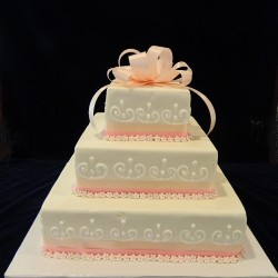 Square Three Tiered with Swirls