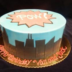 Superhero Round Cake #2
