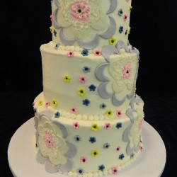 Three Tier Fondant Flowers