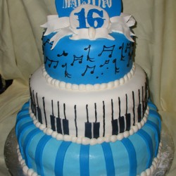 Three Tiered 16th Birthday Cake #5