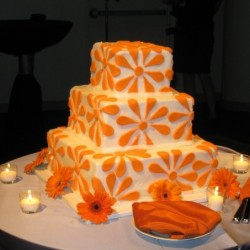 Three Tiered Orange Daisy