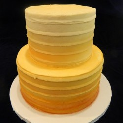 Three Tiered with Golden Ombre