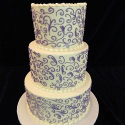 Three Tiered with Purple Lace