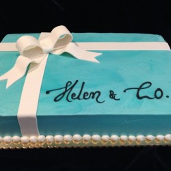Tiffany Box Cake #5