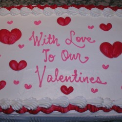 To Our Valentine Sheet Cake #3