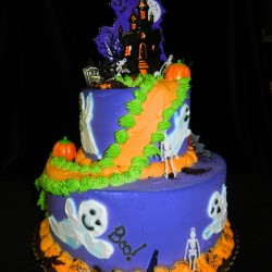 Two Tier Halloween Ghost Cake #11