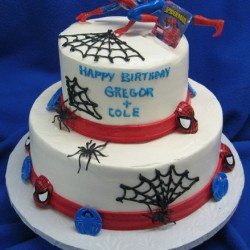 Two Tiered Spiderman Cake #1