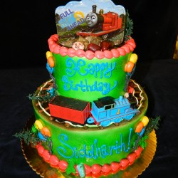 Two Tiered Thomas Cake #2