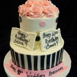 Two Tiered with Stripes, Dots and Flowers #6