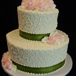 Two Tiered with Swirls and Flowers