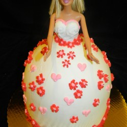 Valentine's Day Doll Cake #1