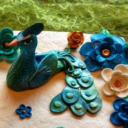 Peacock Cake Detail